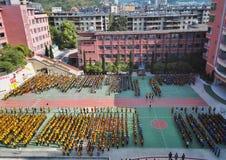 Cerimonia di apertura cinese 2 della scuola secondaria Immagini Stock