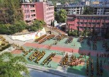 Cerimonia di apertura cinese 3 della scuola secondaria Immagini Stock