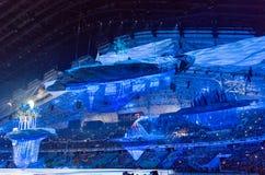 Cerimonia di apertura dei giochi olimpici di Soci 2014 Fotografia Stock Libera da Diritti