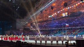 Cerimonia di apertura dei giochi olimpici di Soci 2014 Fotografie Stock