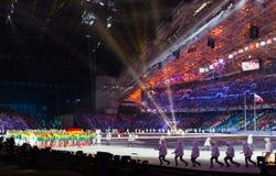 Cerimonia di apertura dei giochi olimpici di Soci 2014 Fotografie Stock Libere da Diritti