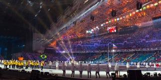 Cerimonia di apertura dei giochi olimpici di Soci 2014 Immagine Stock Libera da Diritti