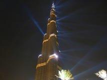 Cerimonia di apertura di Burj Khalifa (Burj Doubai) Fotografia Stock Libera da Diritti