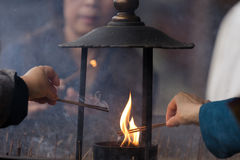 Cerimonia di Buddhism Fotografia Stock Libera da Diritti