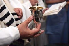 Cerimonia di cerimonia nuziale ebrea Immagini Stock Libere da Diritti