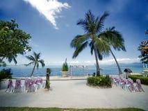 Cerimonia di cerimonia nuziale su una spiaggia Fotografia Stock
