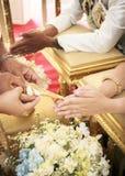 Cerimonia di cerimonia nuziale tailandese Immagini Stock