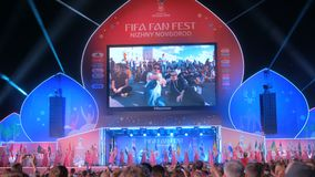 Cerimonia di chiusura del Fest del fan della FIFA video d archivio