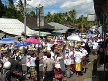 Cerimonia di cremazione di Balinese Immagini Stock
