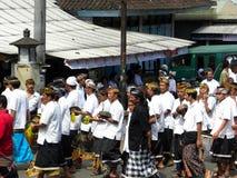 Cerimonia di cremazione di Balinese Immagine Stock