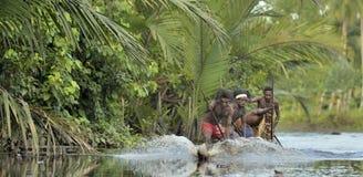 Cerimonia di guerra della canoa Fotografia Stock Libera da Diritti