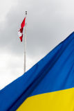 Cerimonia di innalzamento della bandiera ucraina Immagine Stock