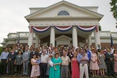 Cerimonia di naturalizzazione di festa dell'indipendenza Fotografia Stock