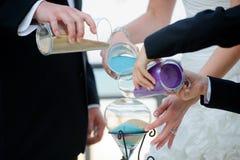 Cerimonia di nozze con la sabbia di unità Fotografia Stock Libera da Diritti
