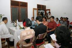Cerimonia di nozze cristiana Fotografie Stock Libere da Diritti
