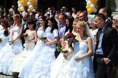 Cerimonia di nozze del gruppo Fotografie Stock Libere da Diritti