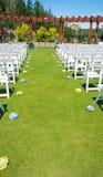 Cerimonia di nozze, giù l'isola fotografia stock