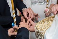 Cerimonia di nozze nella chiesa Fotografia Stock Libera da Diritti