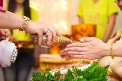 Cerimonia di nozze tailandese Fotografia Stock