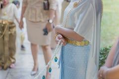 Cerimonia di nozze tradizionale tailandese Eccetto lo sposo da Approa fotografia stock