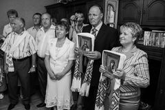 Cerimonia di nozze ucraina tradizionale Fotografie Stock Libere da Diritti