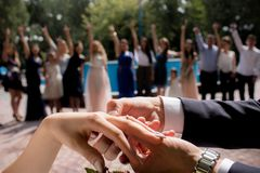 Cerimonia di cerimonia nuziale immagine stock