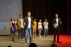 Cerimonia di premiazione dorata bulgara di festival della rosa Immagini Stock