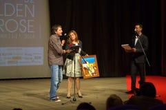 Cerimonia di premiazione dorata di festival della rosa Immagini Stock