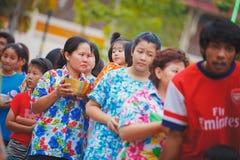 Cerimonia di Songkran Fotografie Stock