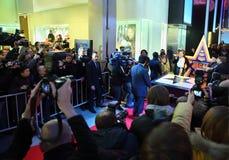 Cerimonia di stenditura della stella Milla Jovovich Fotografia Stock