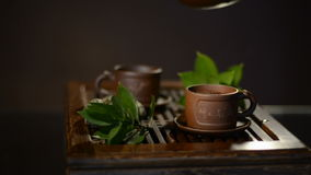 Cerimonia di tè stock footage