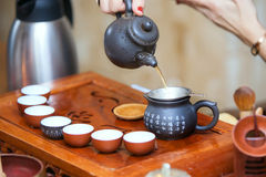 Cerimonia di tè cinese immagini stock libere da diritti