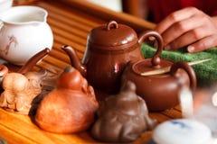 Cerimonia di tè cinese Immagine Stock