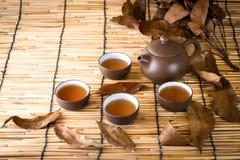 Cerimonia di tè cinese di mattina Fotografie Stock Libere da Diritti