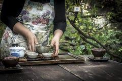Cerimonia di tè in Corea del Sud fotografie stock libere da diritti