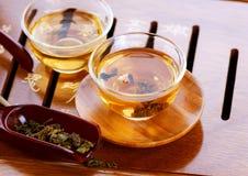 Cerimonia di tè del cinese tradizionale Fotografie Stock