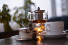 Cerimonia di tè nel caffè Fotografie Stock