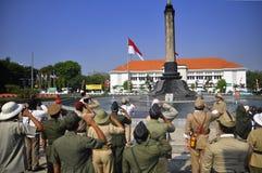 Cerimonia indonesiana di indipendenza Immagine Stock