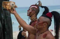 Cerimonia maya Immagini Stock Libere da Diritti