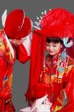 Cerimonia nuziale antica della Cina. Fotografie Stock Libere da Diritti