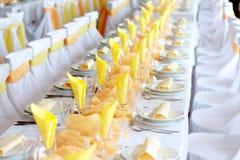 Cerimonia nuziale arancione Fotografia Stock