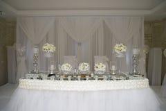 Cerimonia nuziale bianca Fotografie Stock