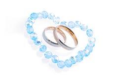 Cerimonia nuziale blu Fotografia Stock Libera da Diritti