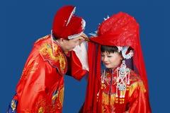 Cerimonia nuziale del cinese tradizionale Fotografia Stock Libera da Diritti