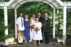 cerimonia nuziale del ritratto della famiglia Immagine Stock Libera da Diritti