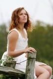 cerimonia nuziale del vestito Fotografie Stock