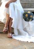 cerimonia nuziale del vestito dalla sposa Fotografia Stock Libera da Diritti