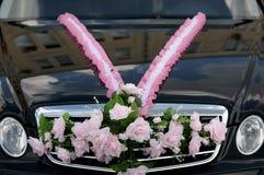 cerimonia nuziale dell'automobile Fotografia Stock