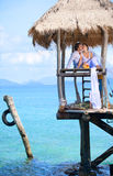 Cerimonia nuziale dell'isola Fotografia Stock