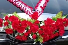 cerimonia nuziale della decorazione dell'automobile Immagini Stock